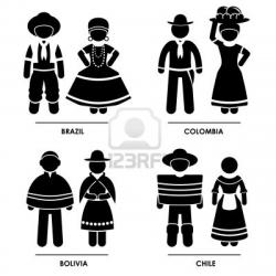 Traditional Costume clipart brazil