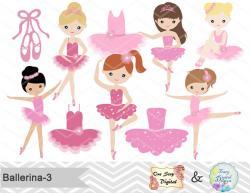 Ballet clipart pink ballerina
