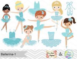Ballet clipart cute ballerina