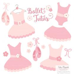 Pink Dress clipart ballerina dress