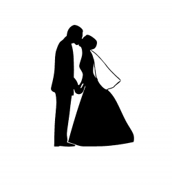 Shaow clipart bride and groom
