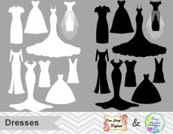 Dress clipart bride dress
