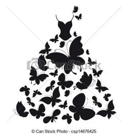 Dress clipart butterfly