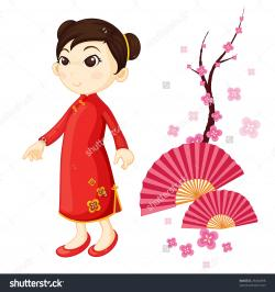 Kimono clipart chinese woman