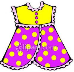 Pink Dress clipart kids clothing