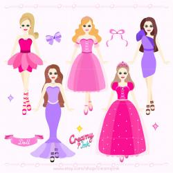 Pink Dress clipart doll clothes