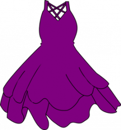Gown clipart purple dress