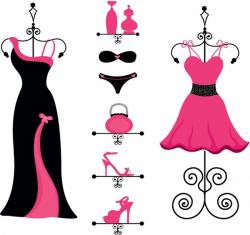 Gown clipart fashion design