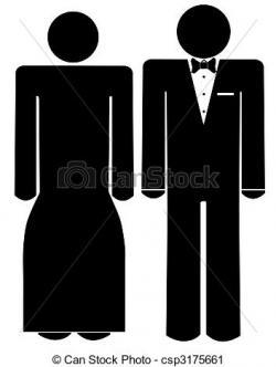 Black Dress clipart formal attire