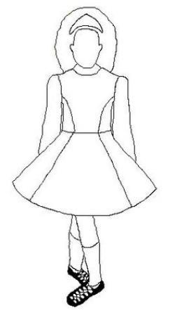 Dress clipart irish dancing
