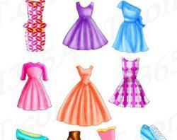Sandal clipart summer dress