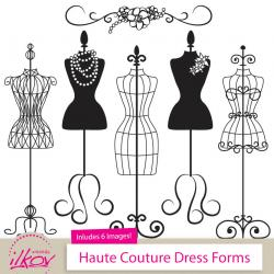 Wedding Dress clipart sewing mannequin