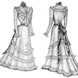 Gown clipart old fashioned