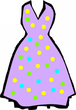Dress clipart purple dress