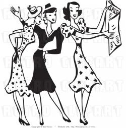 Dress clipart retro