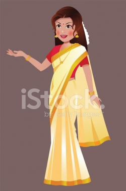 Saree clipart south indian