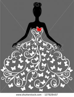 Gown clipart butterfly
