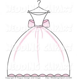 Gown clipart bridesmaid dress