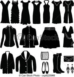 White Dress clipart womens clothes