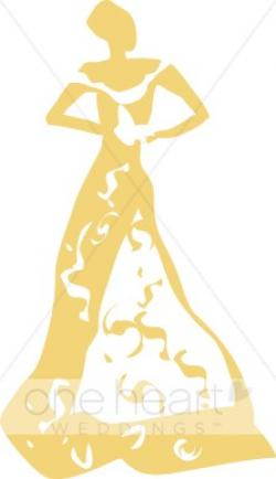 Gown clipart vintage wedding dress