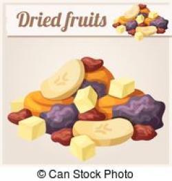 Dried Fruit clipart mix fruit