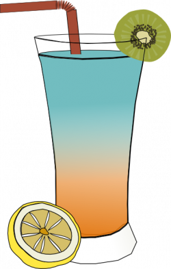 Smoothie clipart tropical cocktail