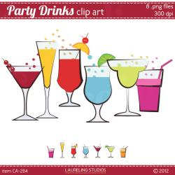 Beverage clipart summer drink