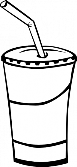 Beverage clipart black and white