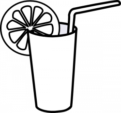 Juice clipart black and white
