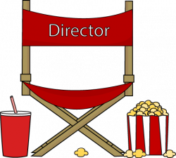 Theatre clipart director chair