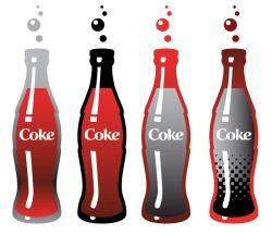Coca Cola clipart soda bottle