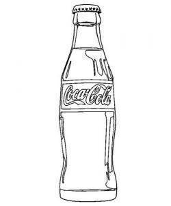 Coca Cola clipart black and white