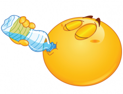 Smiley clipart drinking water