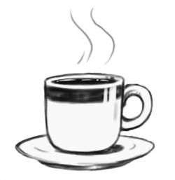 Cappuccino clipart black and white