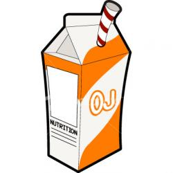 Juice clipart orange juice carton