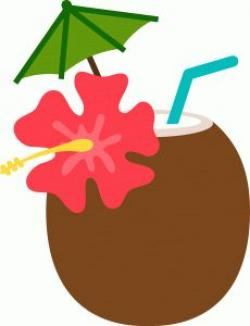 Coconut clipart tropical drink