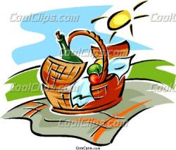 Picnic clipart food hamper
