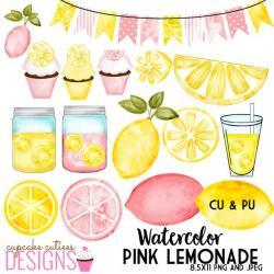 Citrus clipart pink lemonade