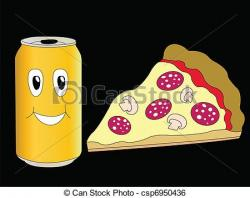 Drink clipart pizza