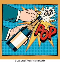 Champagne clipart pop art