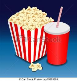 Drink clipart popcorn