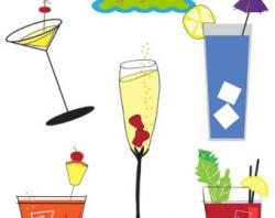 Drink clipart retro cocktail