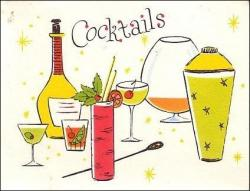 Liquor clipart vintage cocktail