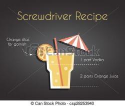 Drink clipart screwdriver