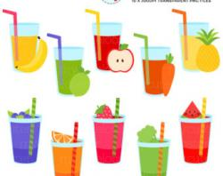 Liquid clipart fruit smoothy