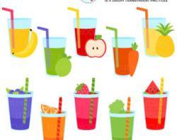Liquid clipart fruit smoothy