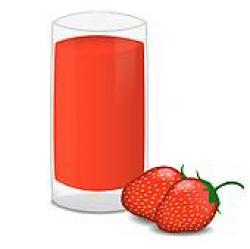 Drink clipart strawberry juice