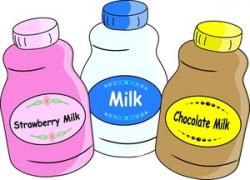 Liquid clipart strawberry milk