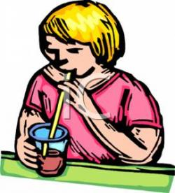Juice clipart drinking straw