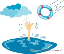 Drowning clipart